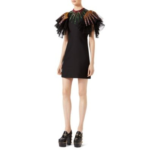 GUCCI Ruffle Embellished Dress
