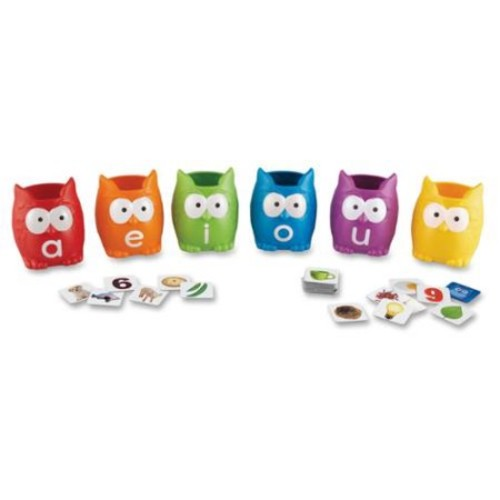 Learning Resources Vowel Owls Sorting Set - Skill Learning: Vowels, Sorting, Word (lrn-5460)