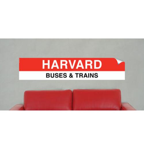 Boston MBTA Vinyl Sign- Harvard