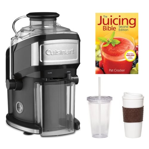 Cuisinart CJE-500 Compact Juice Extractor + The Juicing Bible + 2 Pack Coffee Mug & Iced Beverage Cup