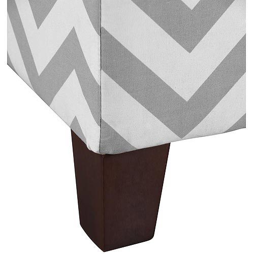 Dorel Living Kinsley Chevron Storage Ottoman, Gray and White