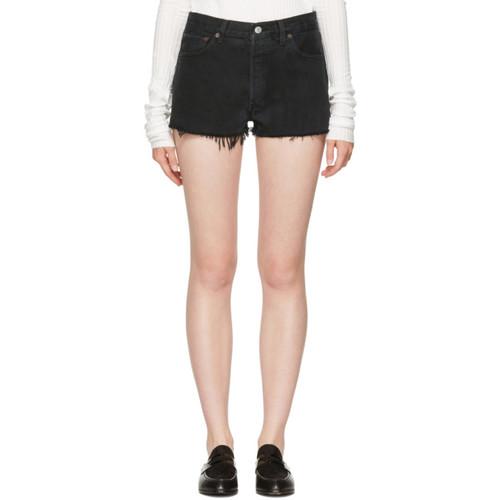 RE/DONE Black Denim Shorts