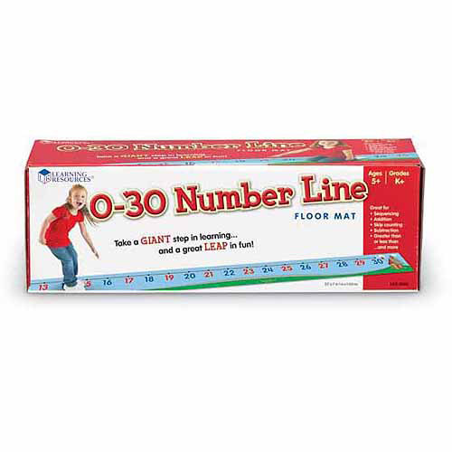 Learning Resources 0-30 Number Line Floor Mat (LER0935) Multi-Colored