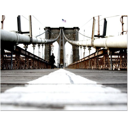 Trademark Global Yale Gurney 'Brooklyn Bridge' Canvas Art [Overall Dimensions : 18x24]