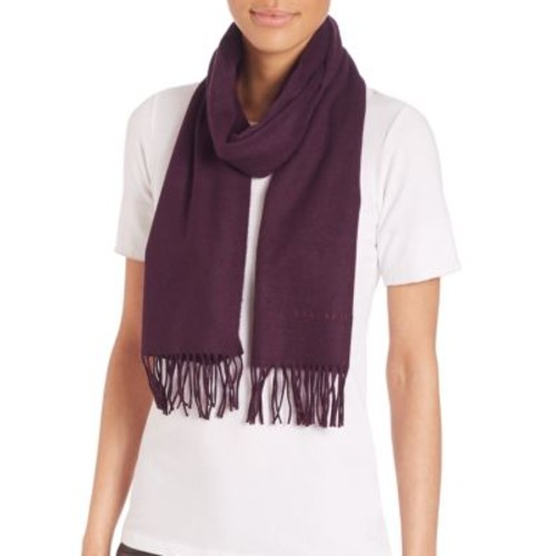 BURBERRY Logo-Embroidered Cashmere Scarf
