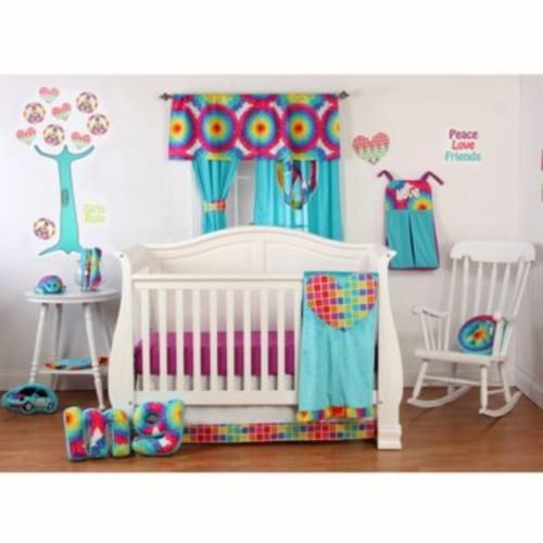 One Grace Place - Terrific Tie Dye 3-Piece Crib Bedding Set