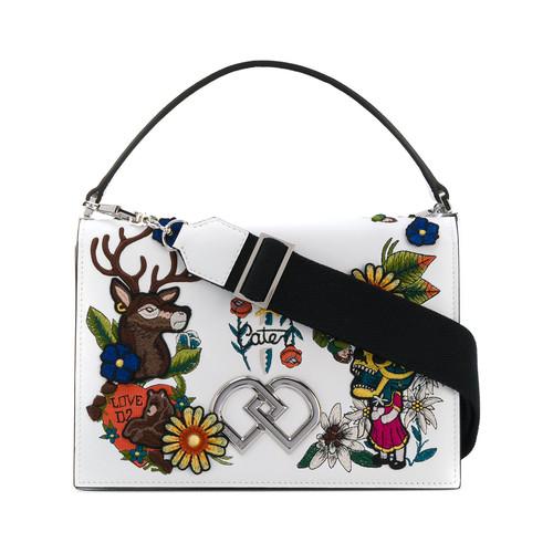 embroidered DD crossbody bag