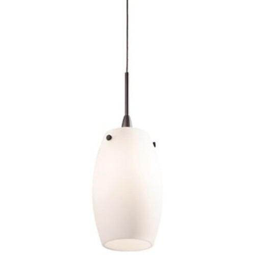 George Kovacs Droplets 1-Light Low Voltage Pendant in Sable Bronze with Opal Shade