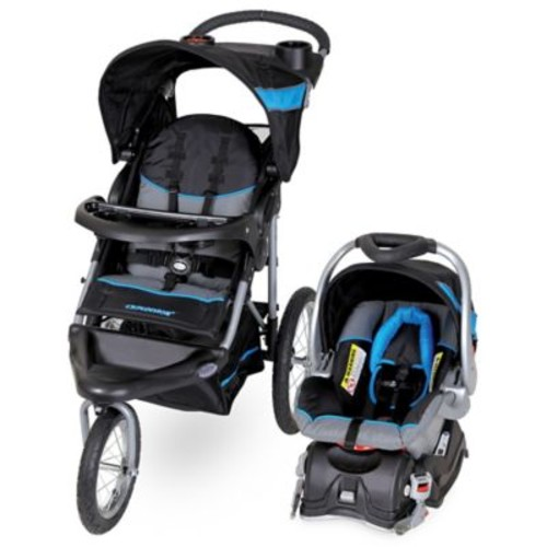 Baby Trend Expedition Jogger Stroller Travel System in Millennium Blue