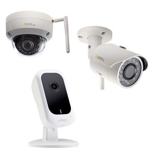 Q-SEE 3MP Wi-Fi IP Mini Cube Camera, 3 MP Wi-Fi IP Dome Camera and 3MP Wi-Fi IP Bullet Camera Surveillance Bundle