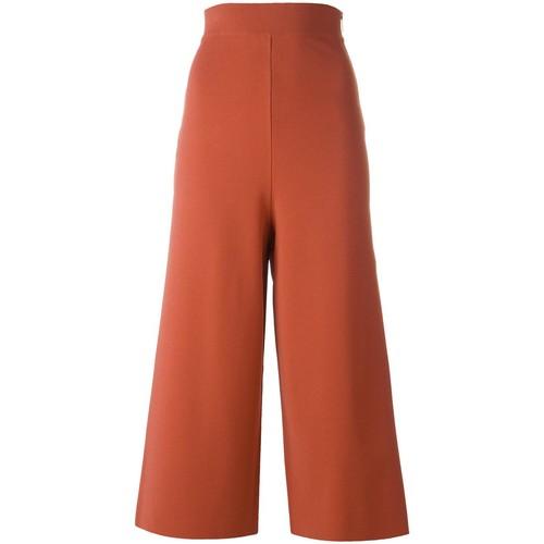 STELLA MCCARTNEY Cropped Wide Leg Trousers
