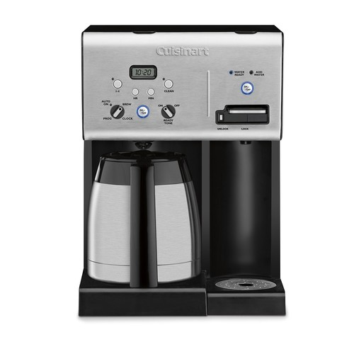 Cuisinart CHW-14 Coffee Plus 10-Cup Thermal Programmable Coffeemaker and Hot Water System [Black, 10-Cup]