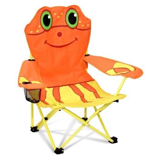 Melissa & Doug Sunny Patch Clicker Crab Folding Beach Chair for Kids [Standard]