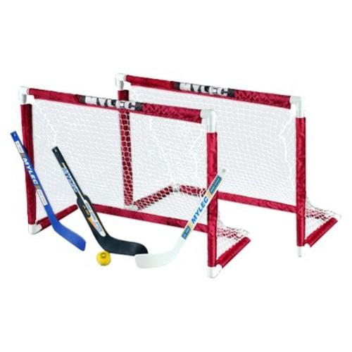 Mylec Deluxe Mini Goal Set White