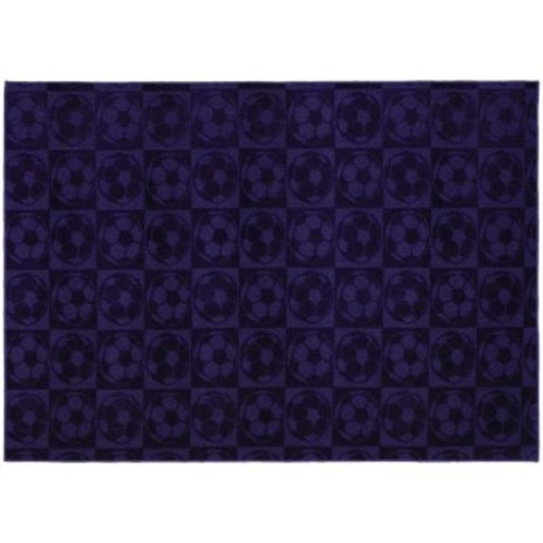 Garland Rug Soccer Balls Purple 7 ft. 6 in. x 9 ft. 6 in. Area Rug