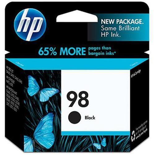 HP 98 - 11 ml - black - original - ink cartridge - for Officejet 100, 150, 6310, H470; Photosmart 2575, 80XX, C4150, C4180, D5069, D5145, (C9364WN#140)