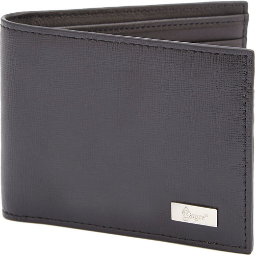 Royce Leather RFID Blocking Saffiano Leather Mens Hipster Bifold Wallet