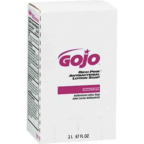 GOJO PRO 2000 Rich Pink Antibacterial Lotion Soap Refill, Floral, 2000 ml, 4/Case