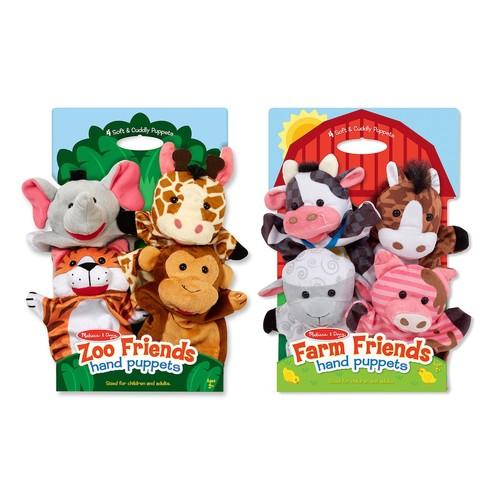 Melissa & Doug Hand Puppets Bundles - Farm & Zoo Friends