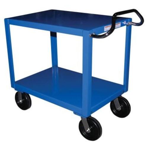 Vestil 34 in. x 72 in. 2 Shelf Heavy Duty Ergo Handle Cart