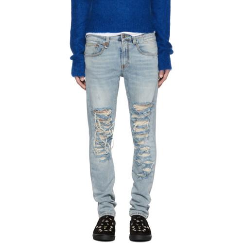 R13 Blue Slashed Boy Jeans