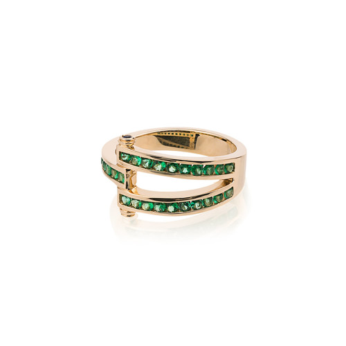 Gold and Emerald magna ring
