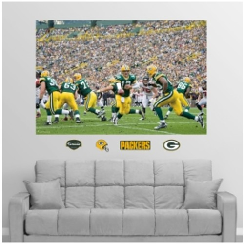 Fathead Green Bay Packers Backfield Wall Graphic