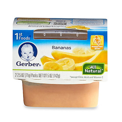 Gerber 1st Foods 2-Pack 2.5 oz. Baby Food Bananas