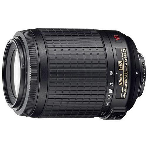 Nikon 55-200mm f/4-5.6G ED IF AF-S DX VR [Vibration Reduction] Nikkor Zoom Lens [Standard Packaging, Base]