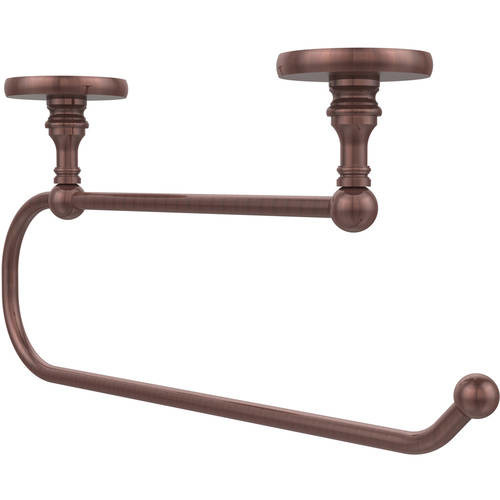 Allied Brass Skyline Collection Under Cabinet Double Post Toilet Paper Holder in Antique Copper