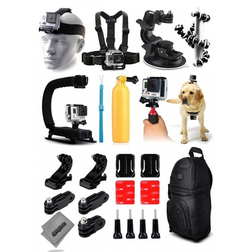 25 in 1 Must Have Pro Accessory Bundle Kit for GoPro Hero4 Action Camera