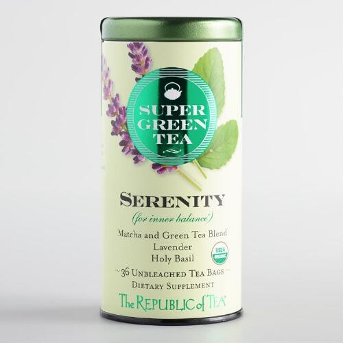 The Republic of Tea Super Green Tea Serenity Blend 36 Count