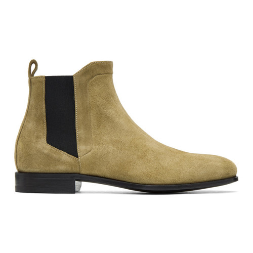 PIERRE HARDY Khaki Suede Drugstore Chelsea Boots