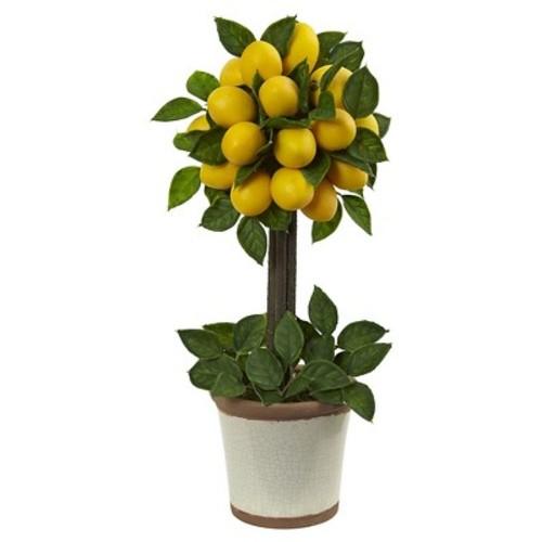 Nearly Natural Lemon Ball Topiary