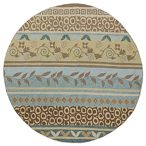 Kaleen Home & Porch Idle Hour 5-Foot 9-Inch Round Indoor/Outdoor Rug in Glacier Blue