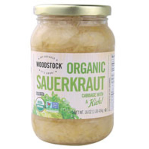 Woodstock Organic Sauerkraut Gluten Free -- 16 oz