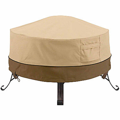 Classic Accessories Veranda Round Full Coverage Fire Pit Cover Small