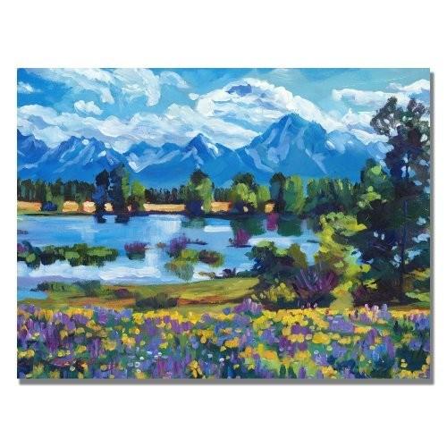Wildflower Valley by David Lloyd Glover, 18x24-Inch Canvas Wall Art [18 by 24-Inch]