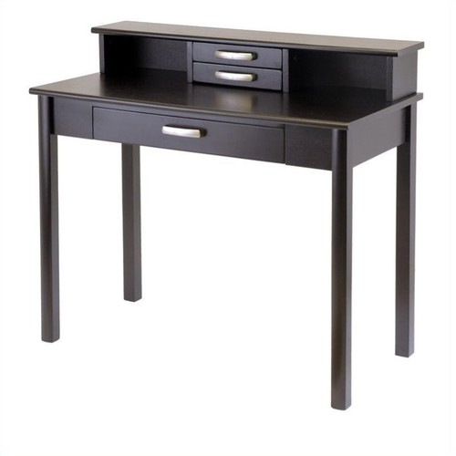 Winsome Wood Liso 2pc Home Office Writing Desk with Hutch, Espresso
