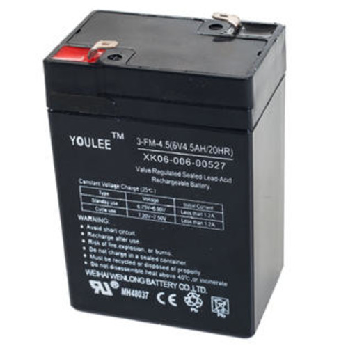 Lil' Rider 6 Volt Rechargeable Battery For Models KB901 & YJ119