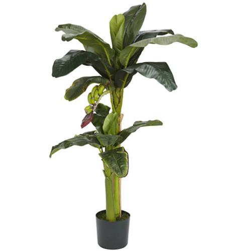 Nearly Natural 5' and 3' Banana Silk Tree with Bananas