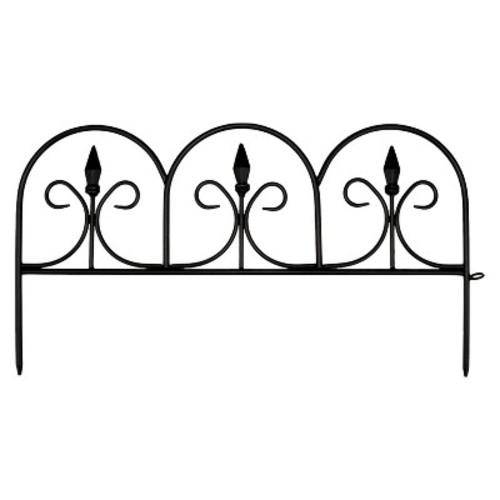 Emsco 10 in. Resin Victorian Fleur De Lis Garden Fence (12-Pack)