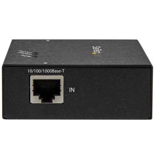 StarTech.com 1 Port Gigabit PoE+ Extender - 802.3at and 802.3af - 100 m (330 ft) - Power over Ethernet Extender - PoE Re