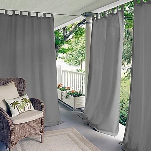 Elrene Home Fashions Matine 84-Inch Tab Top Window Curtain Panel in Grey
