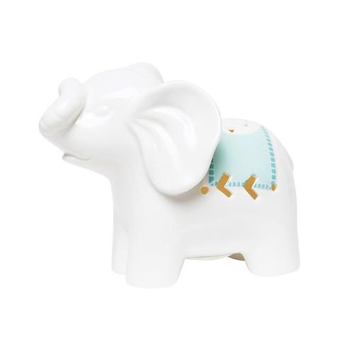 C.R. Gibson Porcelain Elephant Night Light