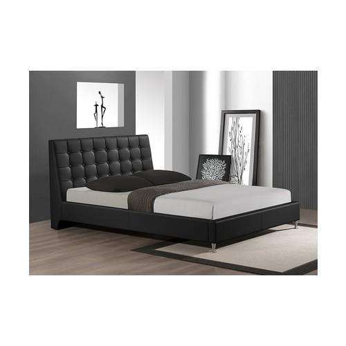Zeller Modern Bed with Upholstered Headboard