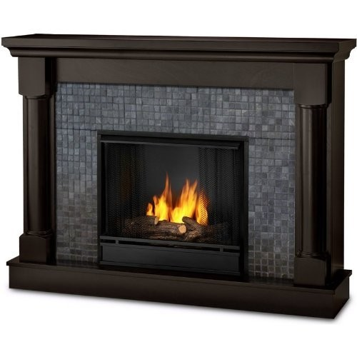 Real Flame The Bennett Ventless Gel Fireplace Dark Walnut