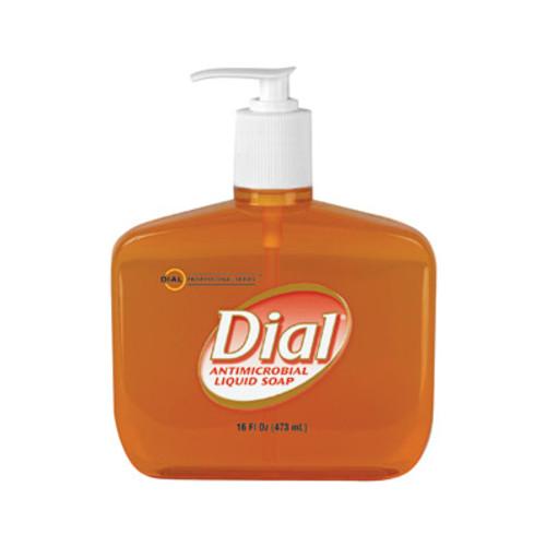 Liquid Gold Antimicrobial Soap, Unscented Liquid, 16 oz Pump Bottle, 12/Carton