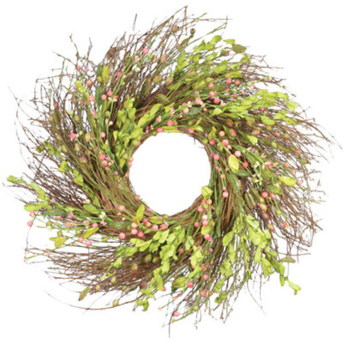 Faux Rosehip Grapevine Wreath