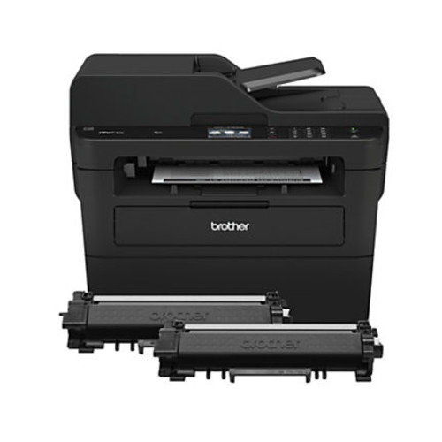 Brother MFC-L2750DW XL Compact Wireless Monochrome Laser All-In-One Printer, Copier, Scanner, Fax